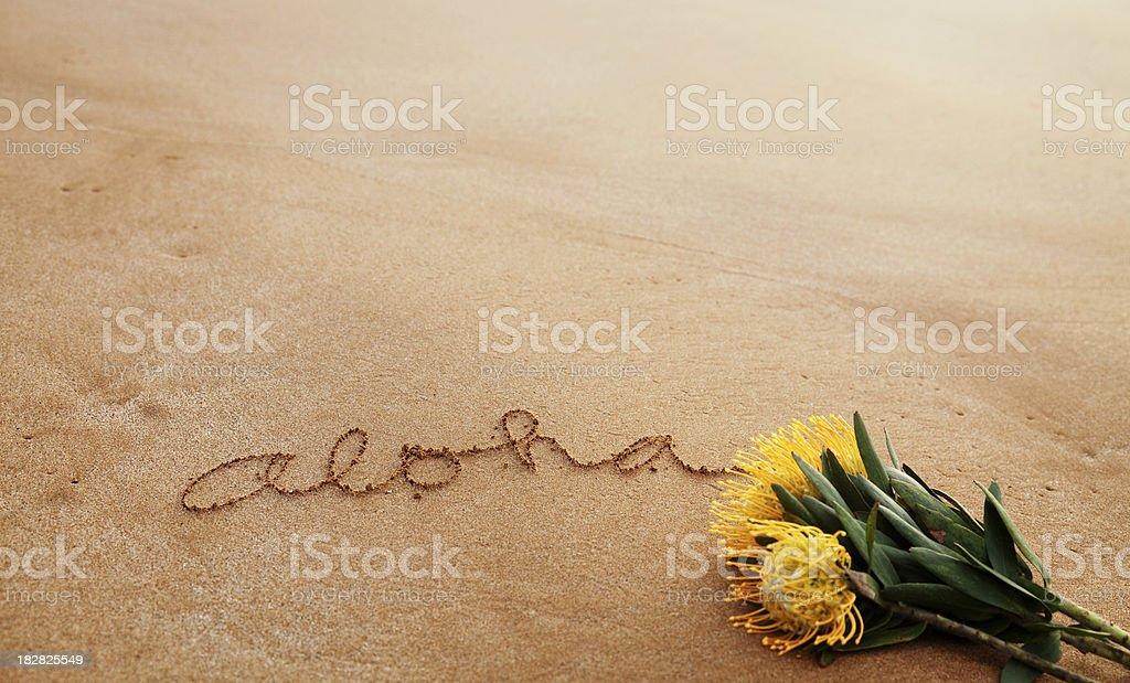 メッセージの文書に砂 ストックフォト