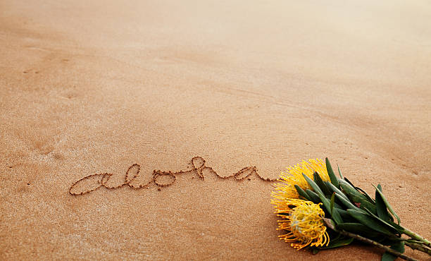 Message Written on Sand stock photo