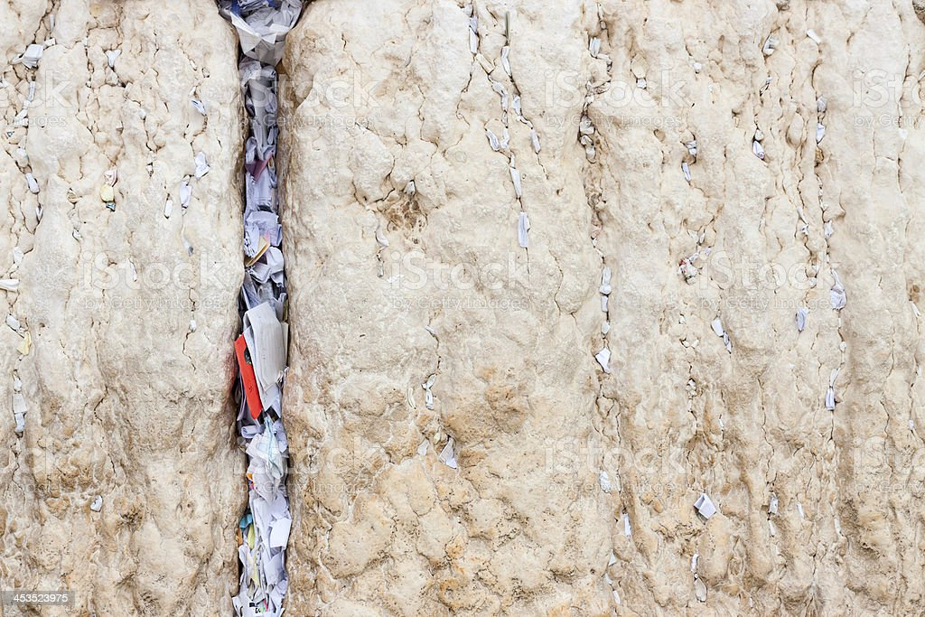 Messages to God in the wailing wall, Jerusalem royalty-free stock photo