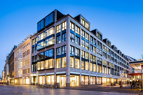 messehaus am markt, leipzig, germany - commercial activity stock photos and pictures