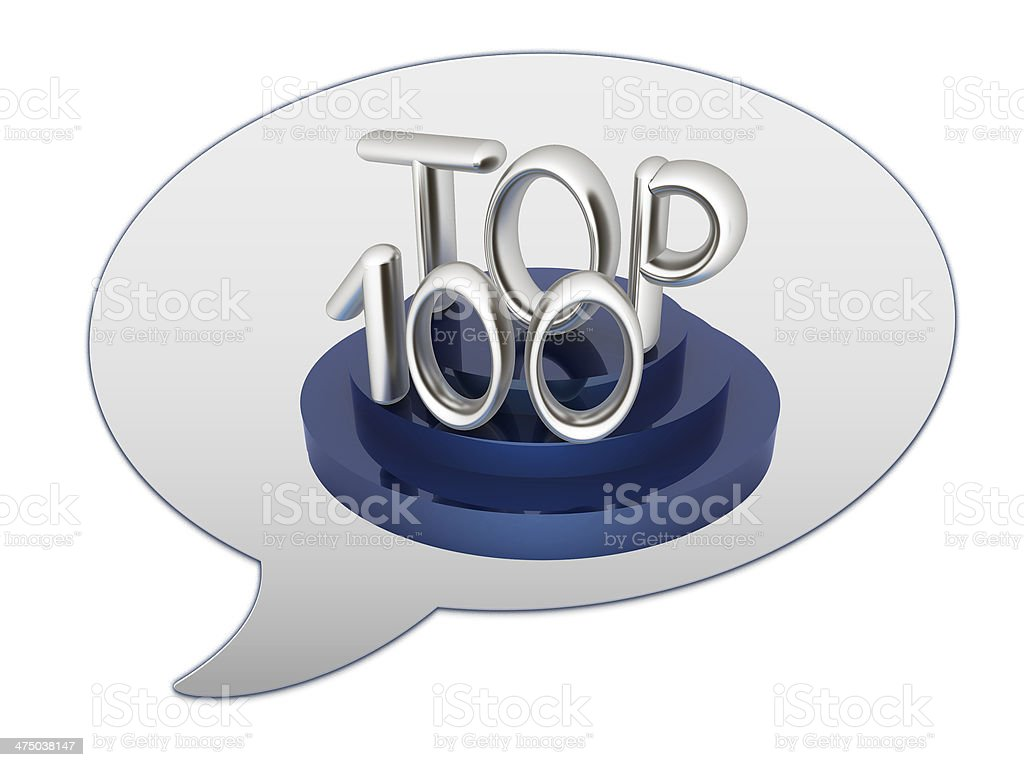 messenger window icon. Top hundred royalty-free stock photo