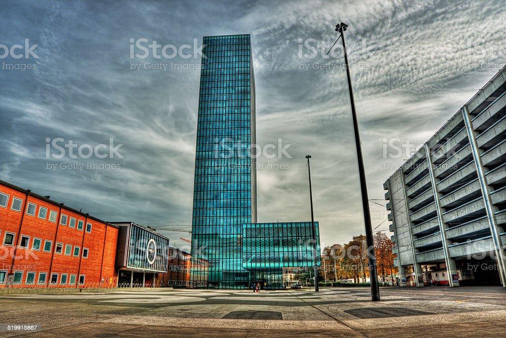 Messeturm in Basel stock photo