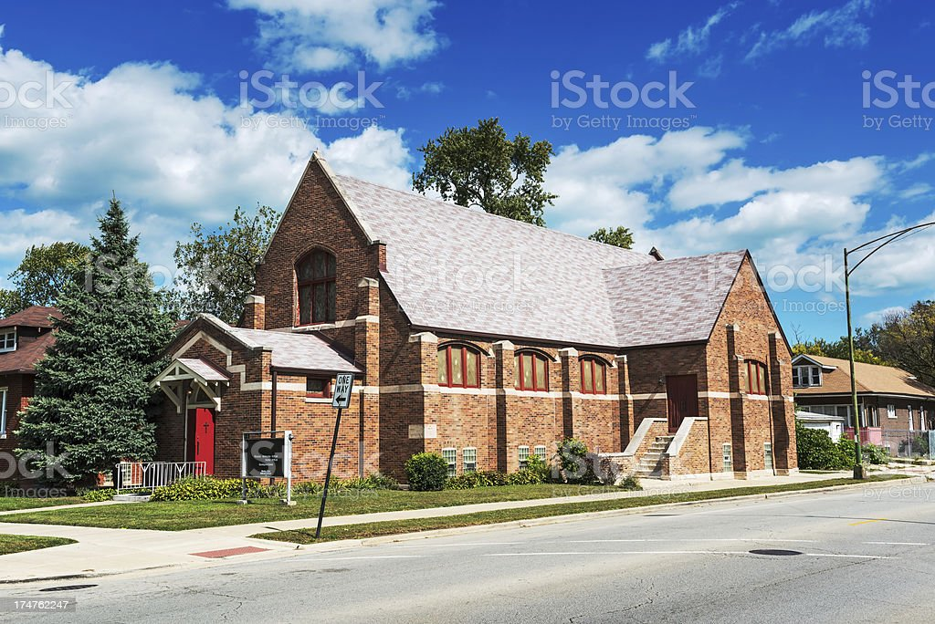 Messiah Saint Bartholomew Episcopal Church, Avalon Park, Chicago royalty-free stock photo