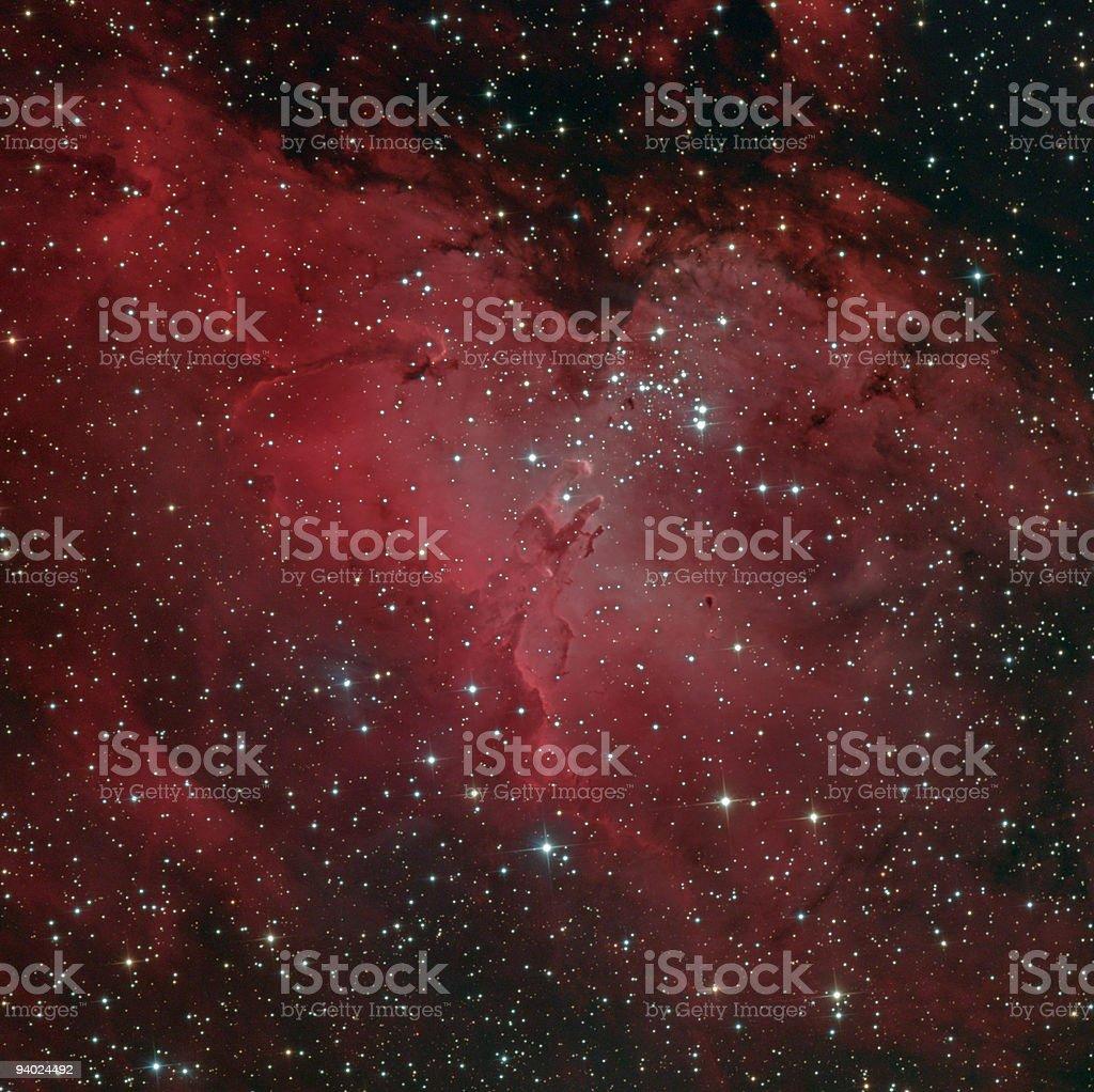 Messier 16 Eagle nebula stock photo