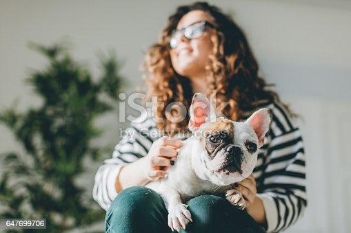 646224594istockphoto Messing around with my dog... 647699706