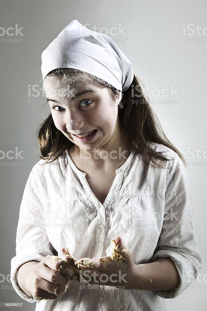 messing up the baking royalty-free stock photo