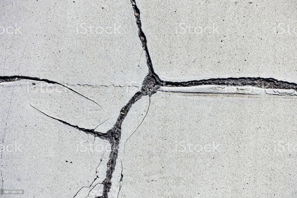 Messthetics: cracked concrete background stock photo