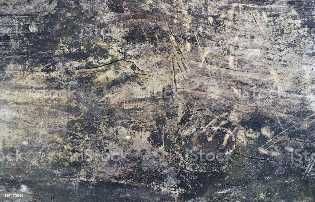 Messthetics: messy grunge wood background with stains and scratches stock photo
