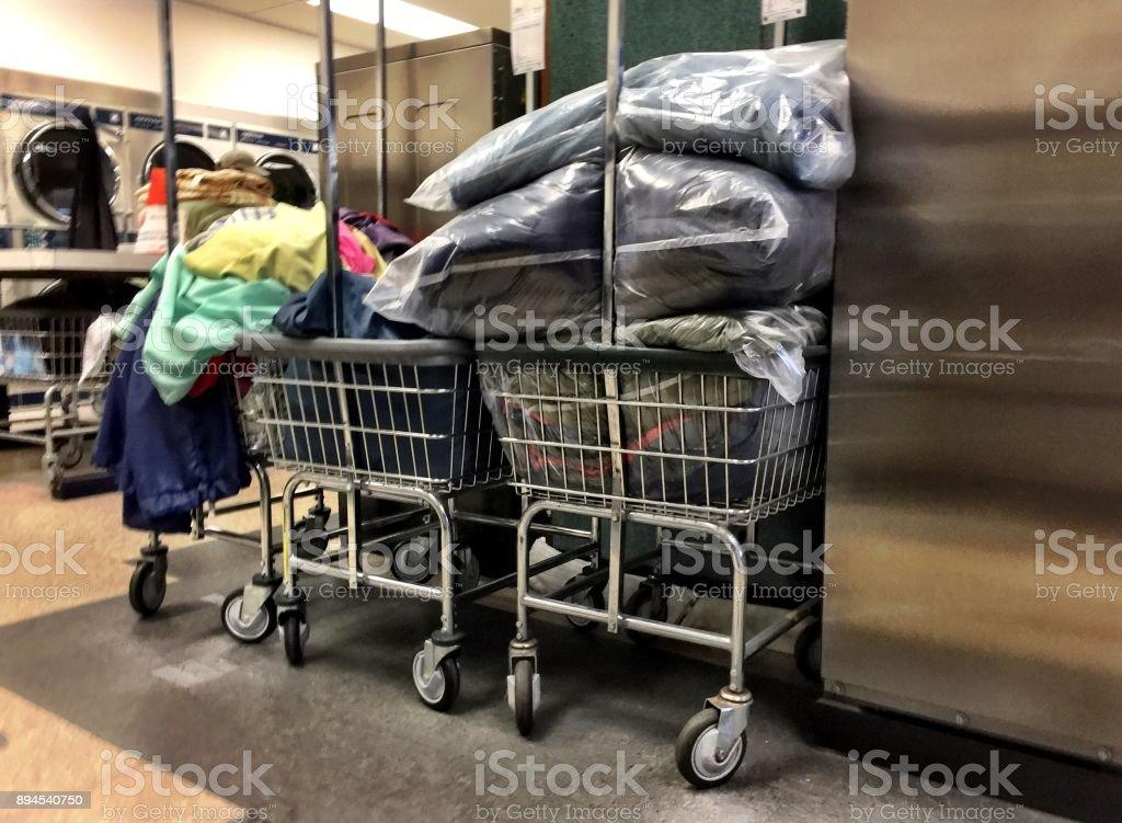 Messthetics messy laundry stock photo