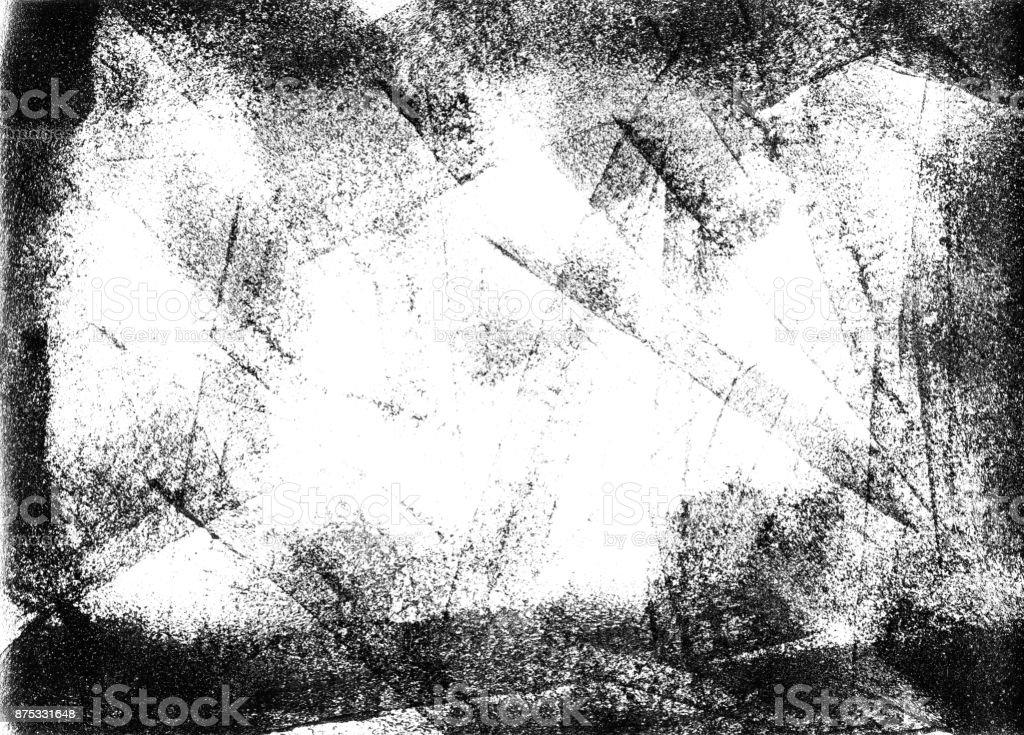 Messy bad printed white board in black color stock photo