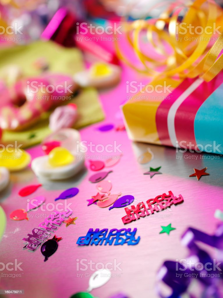 Messy Birthday Party royalty-free stock photo