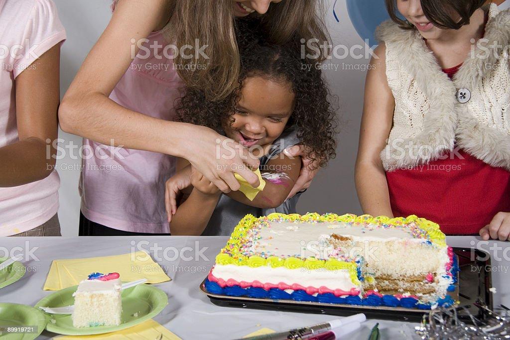 Messy Birthday Party royalty-free stock photo