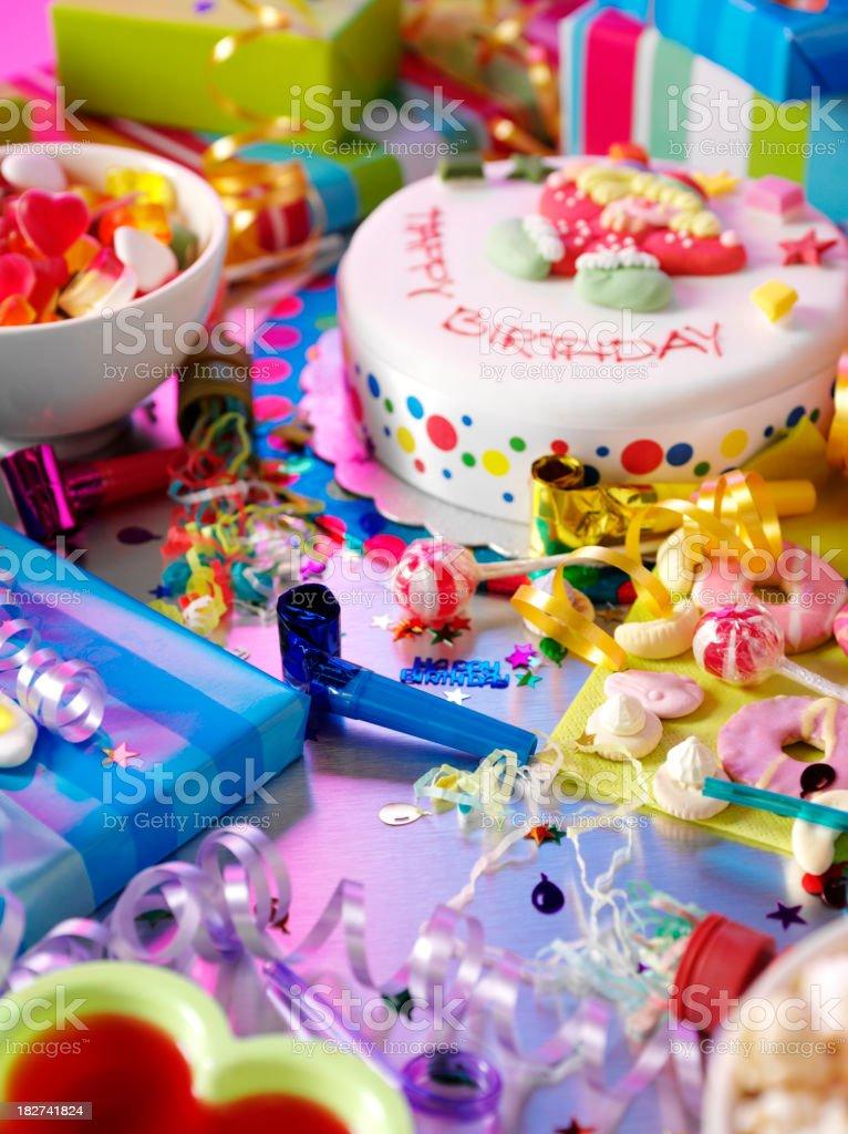 Messy Children's Birthday Party royalty-free stock photo