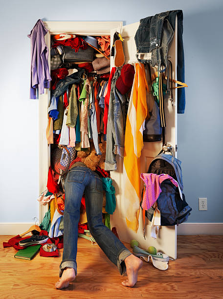 Messy Closet stock photo