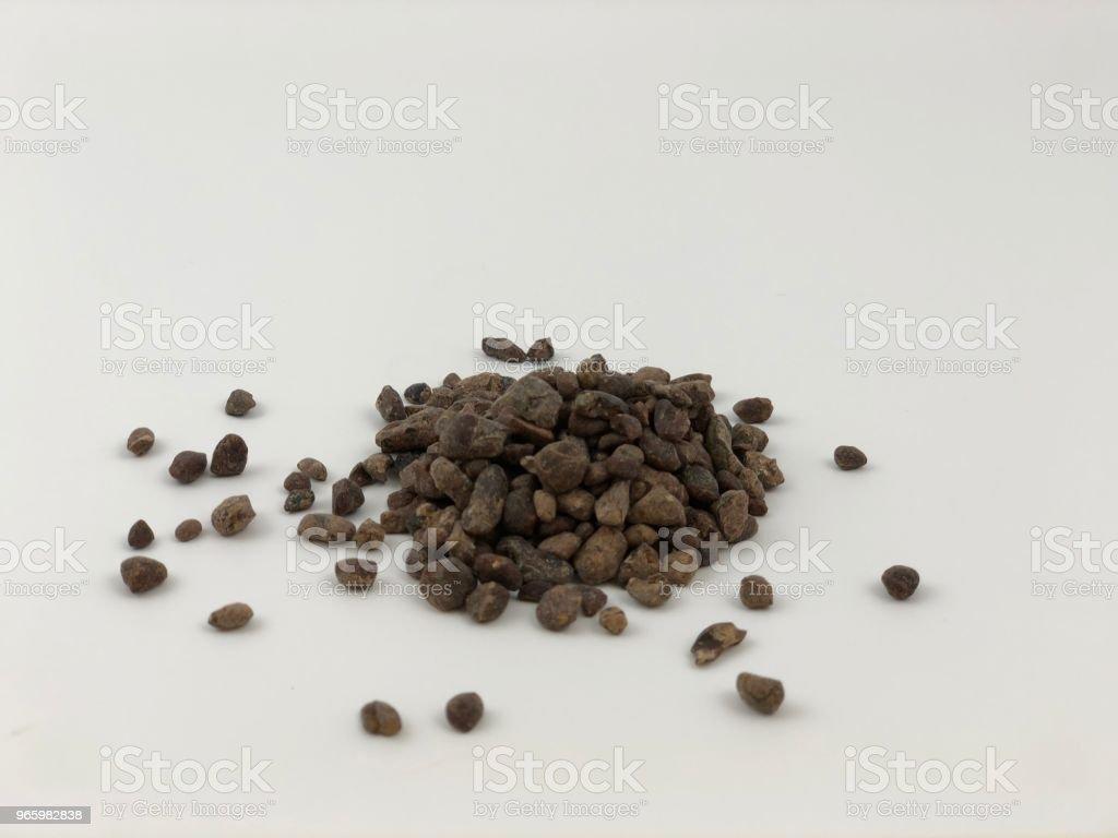 rommelig cacao nib il - Royalty-free Biologisch Stockfoto