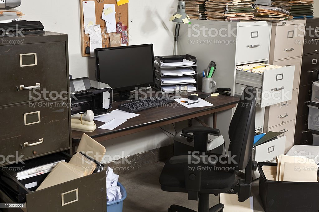 Messy Desk royalty-free stock photo