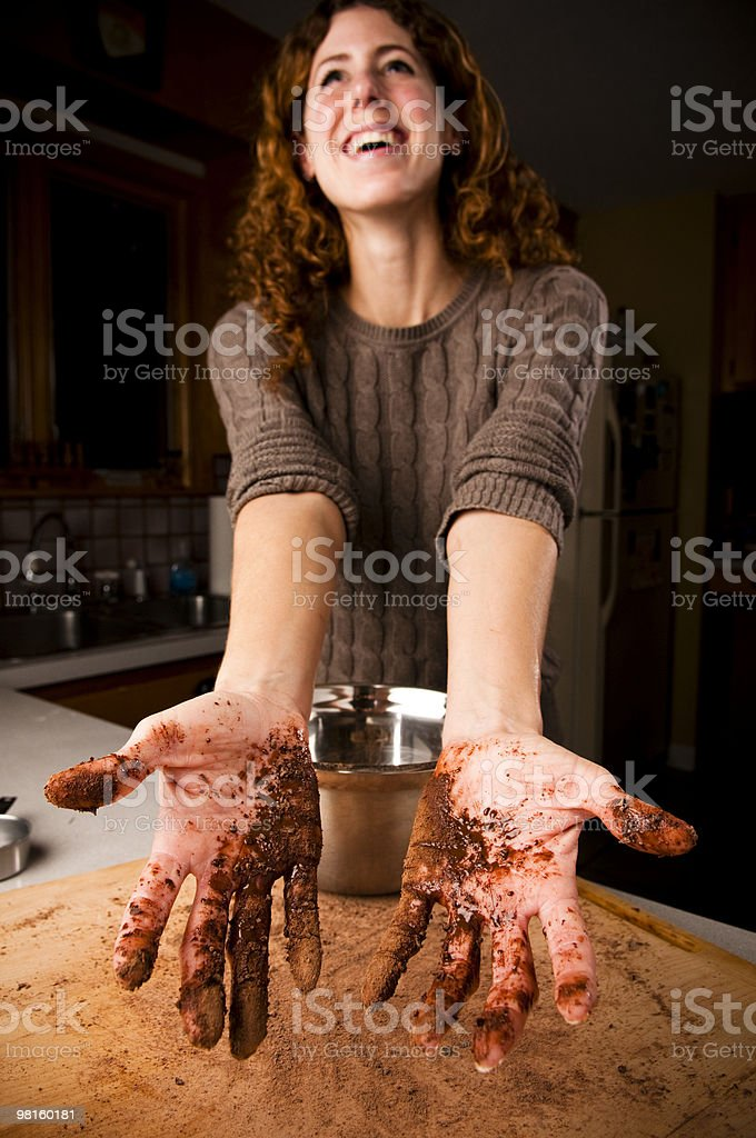 Messy hands royalty-free stock photo