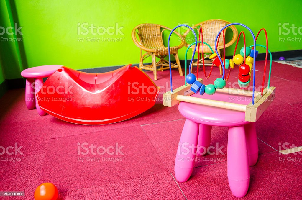 Messy Kid Play Room foto royalty-free