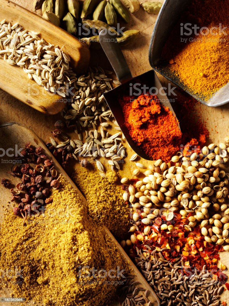 Messy Mixed Spices royalty-free stock photo