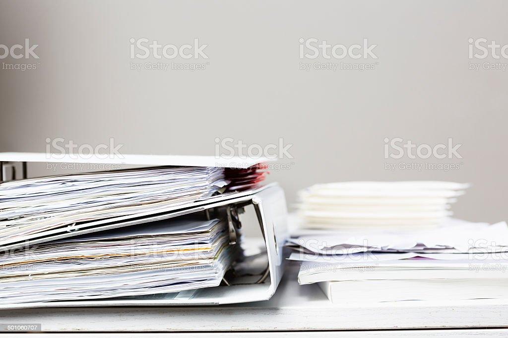 desk office file document paper. Desk Office File Document Paper. Modren Abstract Beige Blue Messy Paper
