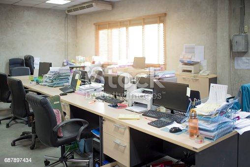 istock messy office no body room 687897434