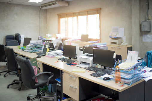 istock messy office no body room 687897434