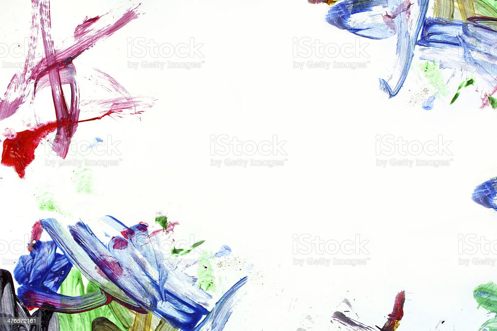 Messy Paint Background royalty-free stock photo