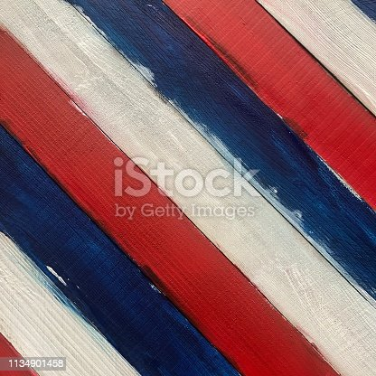 Messy red white and blue wooden stripes.  iPhone