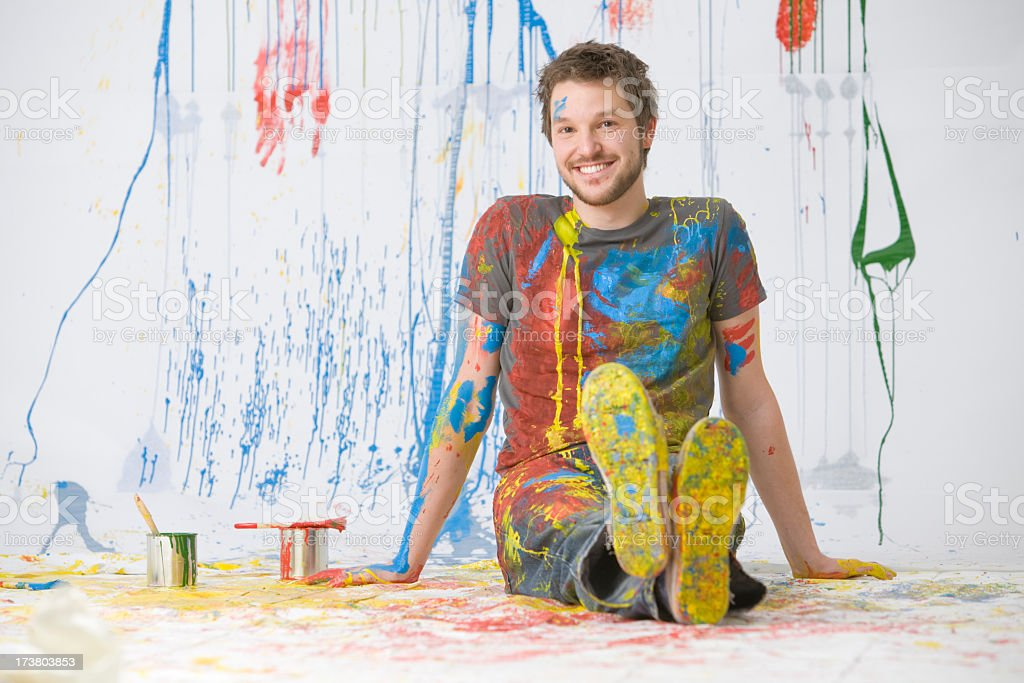 Messy painting royalty-free stock photo