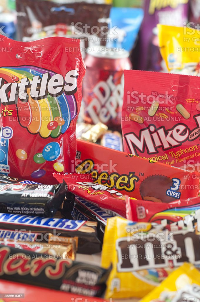 Messy pile of junk food stock photo