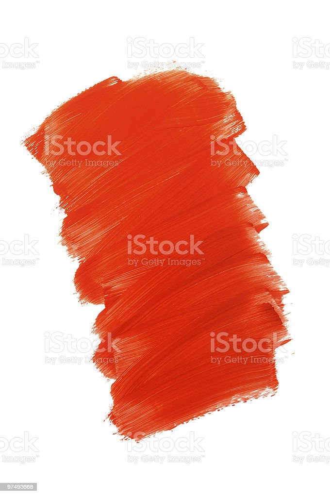 Messy red paint royalty-free stock photo