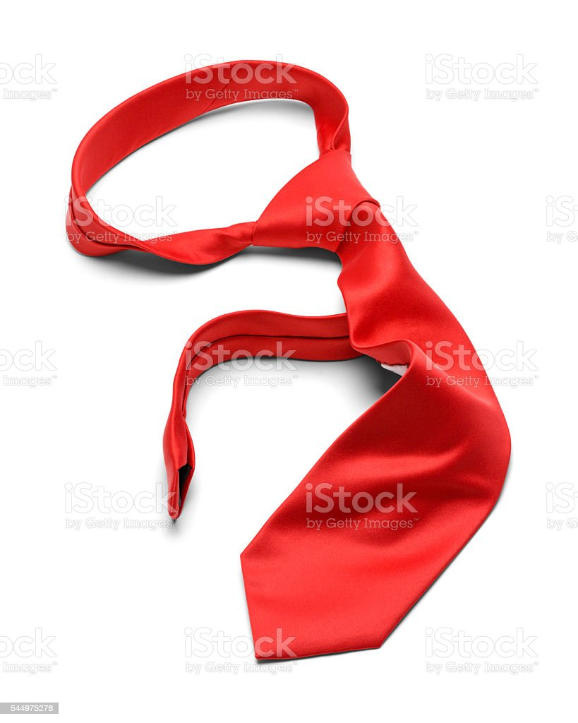 Messy Red Tie stock photo