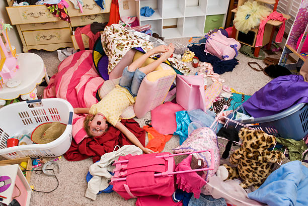 messy room - chaos stock pictures, royalty-free photos & images