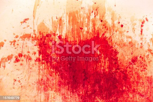 istock Messy splash of red 157649729
