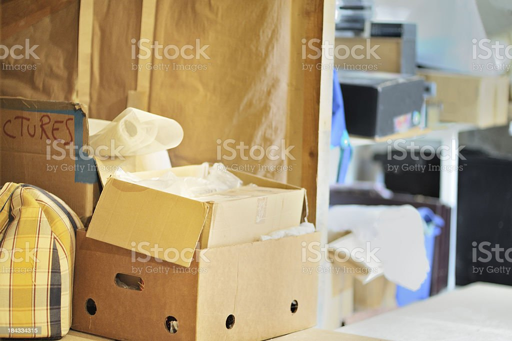 Messy storage area royalty-free stock photo