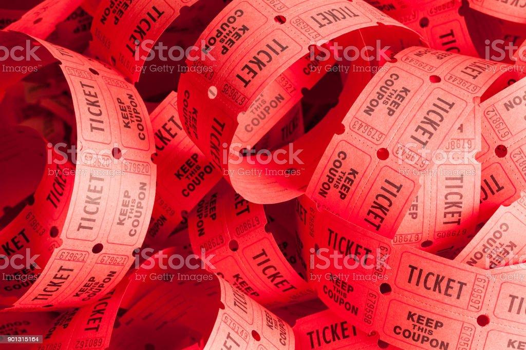 Messy Ticket Pile stock photo