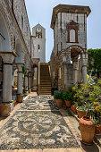 Church tower in Mesta city