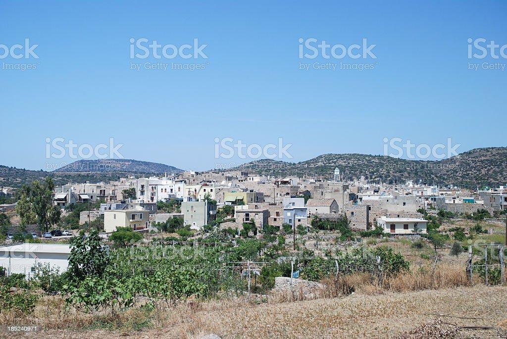 Mesta town, Chios stock photo