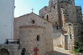 Mesta Village street view in Chios Island