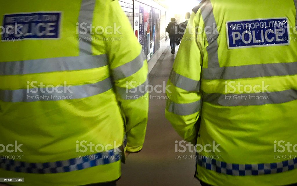 Met Police, London stock photo