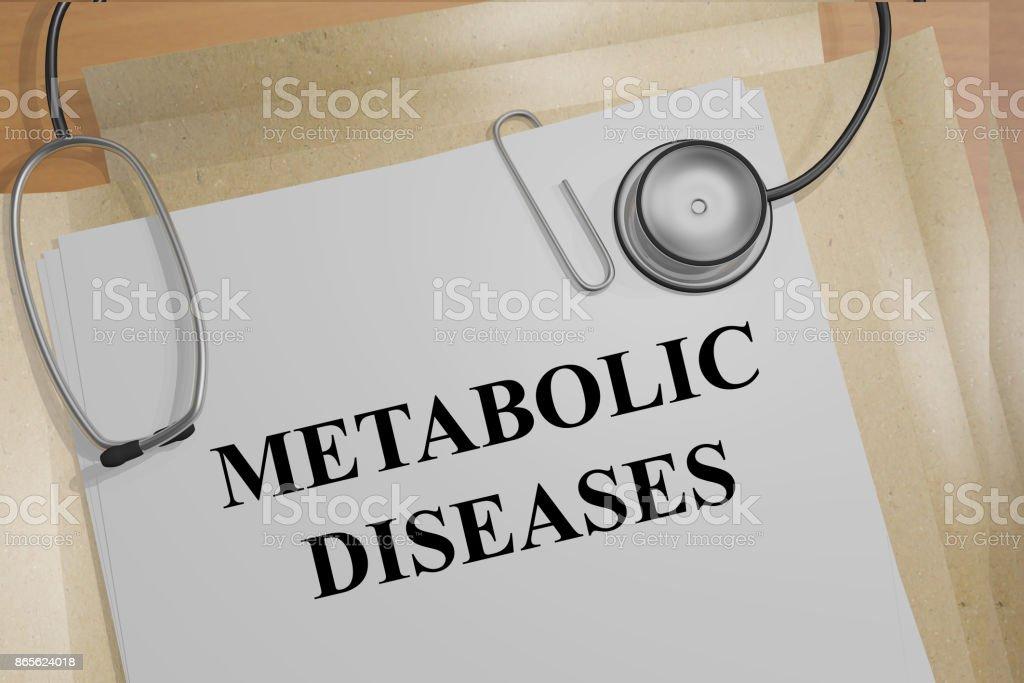 Metabolic Diseases concept stock photo