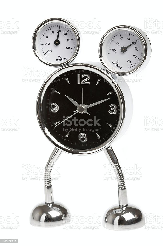 Metal alarm-clock royalty-free stock photo