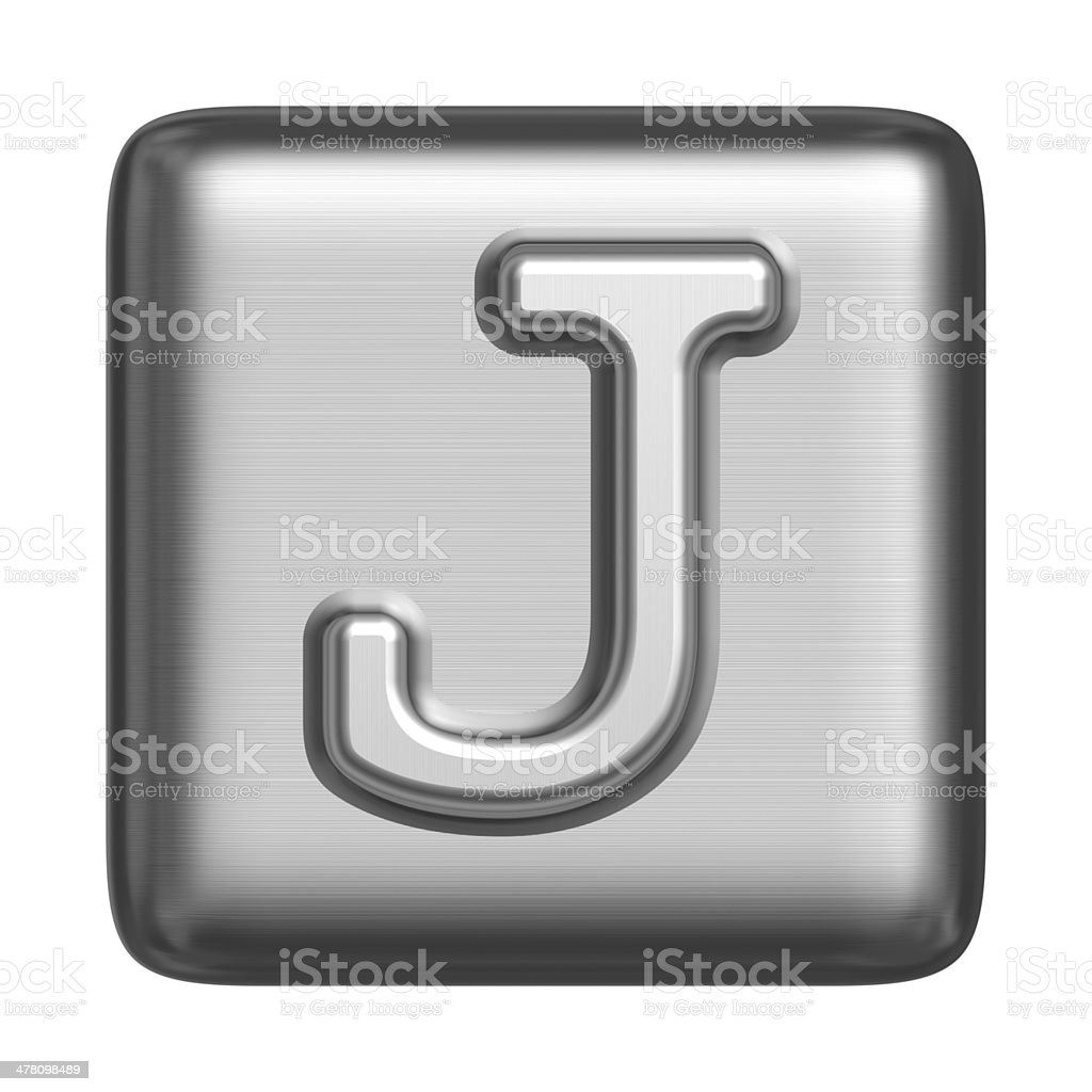 Metal alphabet in the form of a cliche stock photo