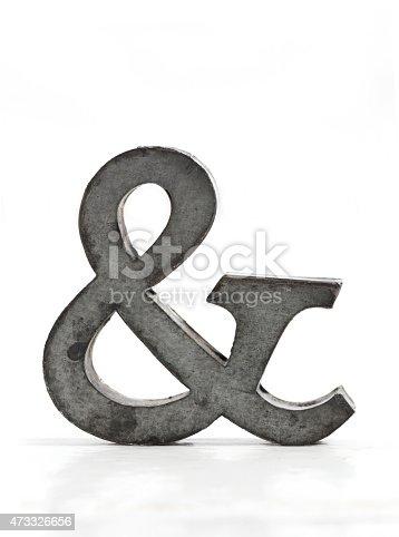 istock Metal ampersand 473326656