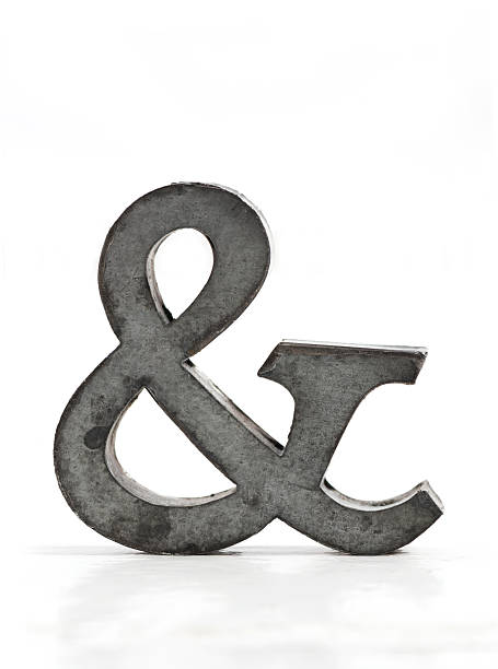 metal ampersand - ampersand stock pictures, royalty-free photos & images