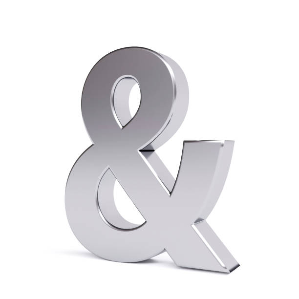 metal ampersand symbol - ampersand stock pictures, royalty-free photos & images