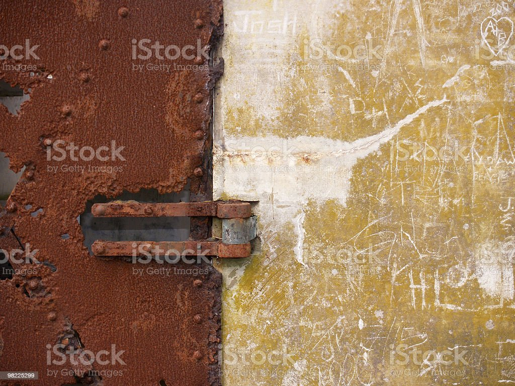 Metal and Concrete Texture royalty-free stock photo