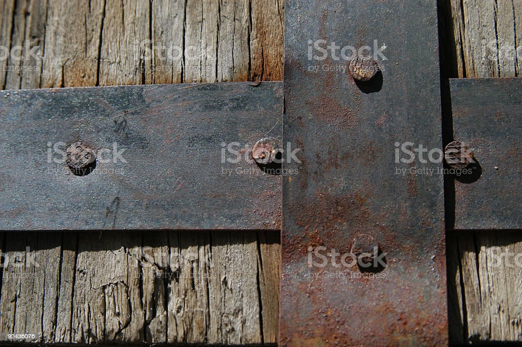 Metal and Wood royalty-free stock photo