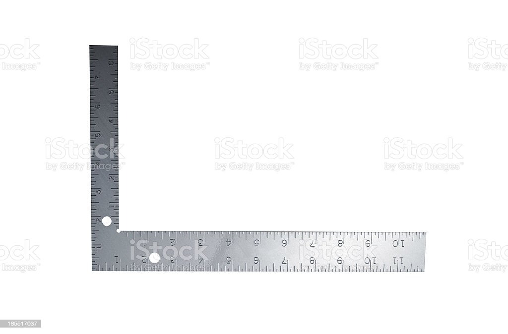 Metal angle on a white background royalty-free stock photo