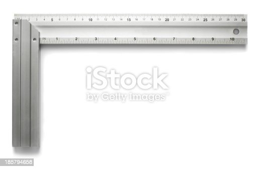 istock A metal angle on a white background 185794658